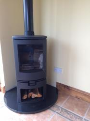 Super Dark Black Granite Hearth
