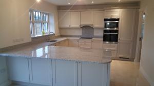 Leopard White Granite Worktop, Upstands, Splashback & Window Board