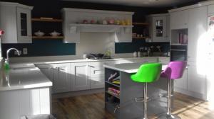 Sparkling White Quartz Worktop, Upstands & Splashback