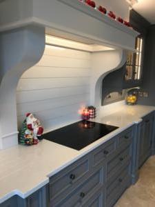 Carrara Quartz Worktop, Upstands & Splashback