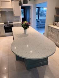 Crystal Pepper Quartz Worktop, Upstands & Splashback