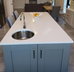 Silver White Quartz Worktop